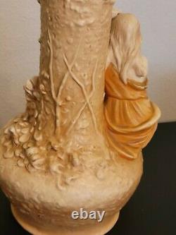 Art Nouveau Amphora Ewer Vase c. 1900 Female Figural