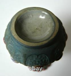 Art Nouveau Amphora Riessner Stellmacher Kessel Vase Austria Jeweled Pottery Old