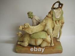 Art Nouveau Austrian Amphora Bedouin Arab & Camel Figurine
