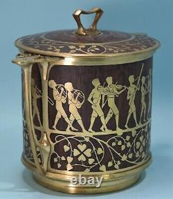 Art Nouveau Austrian Erhard & Sohne Brass Inlay & Rosewood Children's Orchestra