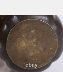 Art Nouveau Austrian Poppy Bronze Vase C 1900