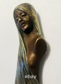 Art Nouveau Letter Opener Austrian Jugendstil Heavy Gilt Bronze, Exceptional