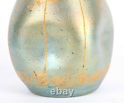 Art Nouveau Loetz Art Glass Vase Austrian Wien Turn