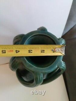 Art Nouveau Pottery Vase Austrian Amphora vintage Arts And Crafts Go With Green