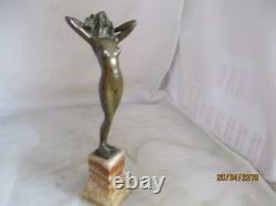 Art Nouveau Signed Austrian Bronze Nude- Geschutz