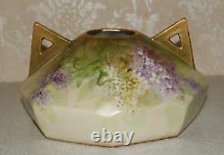 Austria Wahliss Vienna Turn Amphora Vase Lilac porcelain gilded1890