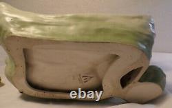 Austrian Amphora Dux Art Nouveau Maiden Floral Garden