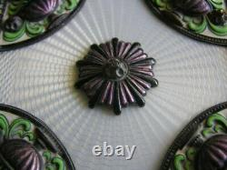 Austrian Art Nouveau Deco Guilloche Enamel Jewelry Jeweled Trinket Box Austria