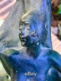 Austrian Art Nouveau Josef Lorenzl Bronze Dancer