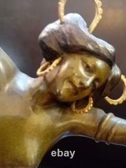 Austrian Bronze Art Nouveau Figure of A Erotic Dancer by CARL KAUBA