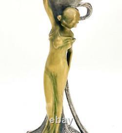 Austrian Ernst Wahliss Art Nouveau Ewer or Pitcher, Figural Maiden, circa 1900