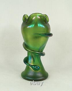 Austrian Loetz Iridescent Glass Snake Vase