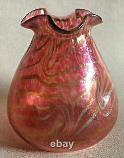 Austrian Loetz Moritz Hacker Red Vase