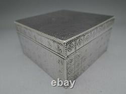Austrian Rare 900 Coin Silver Box G. A. S. George Adam Scheid Amazing Piece
