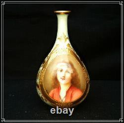 Austrian Royal Vienna Miniature Vase Art Nouveau Sommer Artist Pilz