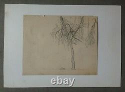 Austrian School ART NOUVEAU /JUGENDSTIL / SYMBOLISM'Spring' DRAWING ca 1895