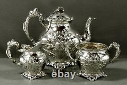 Austrian Silver Tea Set c1890 IRIS