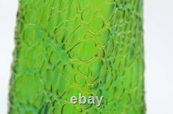 Authentic And Rare Austrian Loetz Crete Nautilus Green Glass 12 Inch Vase