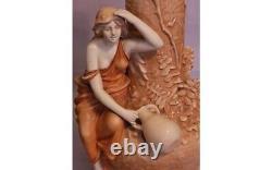 Bernard Bloch Art Nouveau Amphora Ewer Vase c. 1900 Female Figural