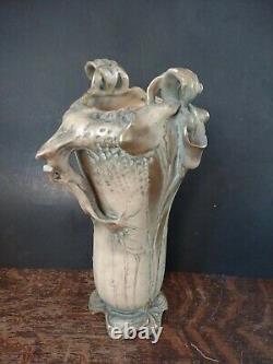 Bohemian Art Nouveau Amphora Vase RSTK Stellmacher Teplitz Unusual