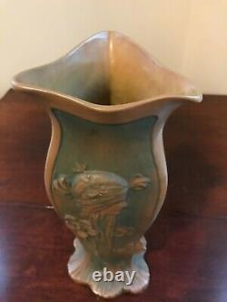 CrownOakware Teplitz Austria Art Nouveau Figural Floral Vase #3775 12 -Signed