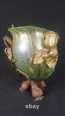 Elegant Art Nouveau Austrian Lotz Vase Crete PG6893 From 1900