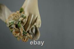 Ernst Wahliss Alexandra Porcelain Works Art Nouveau Maiden Statue Figurine C1905