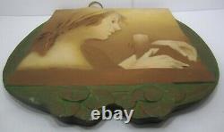 Ernst Wahliss Austrian Art Nouveau Porcelain Plaque Signed Numbered