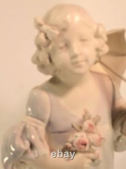 Ernst Wahliss Biscuit Porcelain Statue 15 Hallmarked EW Vienna Austria 1890 ExC