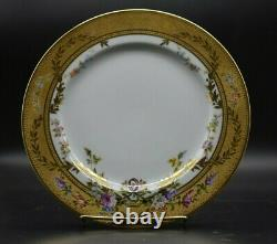 Ernst Wahliss Pirkenhammer Austrian Hand Painted Flowers & Gold 9 1/2 Plate