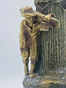 Exquisite Antique Imperial Amphora Turn Austria Vase Art Nouveau 12 Figural Man