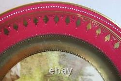 Fine Pair of Antique ROYAL VIENNA Hand-Painted Plates Amore & Spring c. 1900