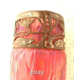Fine Vintage Art Nouveau Austrian Glass Vase 10 High