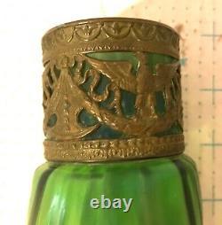 Fine Vintage Art Nouveau Austrian Glass Vase 8 High