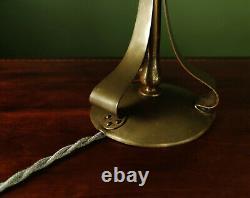 Genuine Antique c. 1900 Austrian Art Nouveau Brass Table / Desk Lamp For Loetz