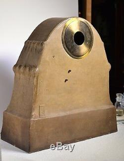 Giant Antique Austrian Goldscheider Ceramic Clock 1903 Schillers Bell