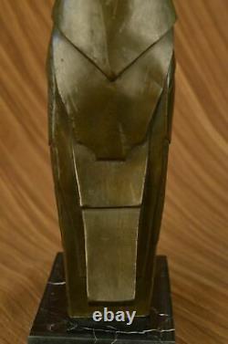 Gorgeous Art Nouveau Deco Austrian Bronze Numbered Owl Artwork Sculpture Dali