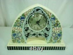 Gudrun Art Nouveau Ceramic Mantle Clock Austrian Electric 21A025