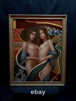 Gustav Klimt Oil On Canvas Famous Symbolism Art Nouveau Austrian Painter