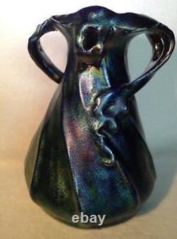 Heliosine Ware Or Zsolnay Eosin Glaze Austria Cabinet Vase Art Pottery