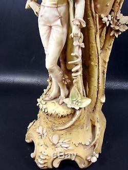Huge Turn Teplitz Art Nouveau Figural Sea Shell Vase Amphora Eduard Stellmacher