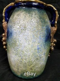 Imperial Amphora Turn Teplitz Austria Riessner Stellmacher & Kessel Grape Vase