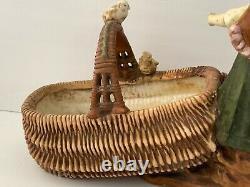Impressive Antique Austrian Amphora Teplitz Art Nouveau Figurine