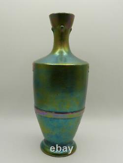 Jugendstil Vase Keramik Lüsterdekor Austrian Iridescent Art Nouveau Vase