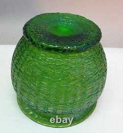 LOETZ Austrian Iridescent Glass Vase CRETE CHINE c. 1905 antique art nouveau