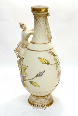 Large Amphora RSTK Enamel Pottery Vase of A Beauty Art Nouveau, circa 1900