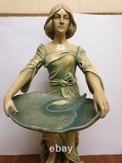 Large Austrian Art Nouveau Woman Figurine Bernard Bloch