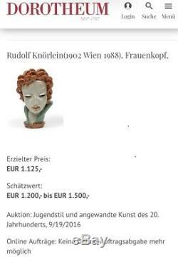 Large Austrian Wiener Werkstatte Signed Terracotta Art Nouveau Knoerlein