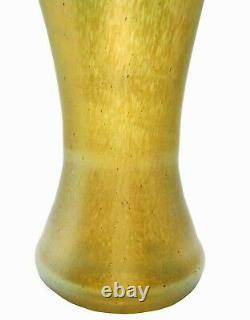 Löetz Austria Art Nouveau Antique 8 Iridescent Striated Hnd Blwn Art Glass Vase