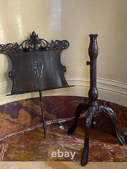 MAGNIFICENT 19c ART NOUVEAU AUSTRIAN MUSIC STAND FROM MUSEUM OF VIENNA